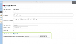 Payment Method Configuration